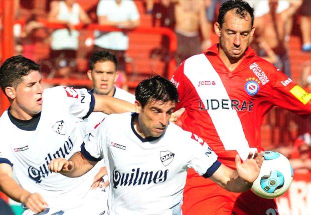 Braña inició la jugada del gol de Quilmes