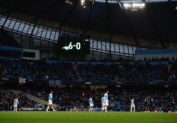 City thumped sorry Spurs 6-0 over the weekend.