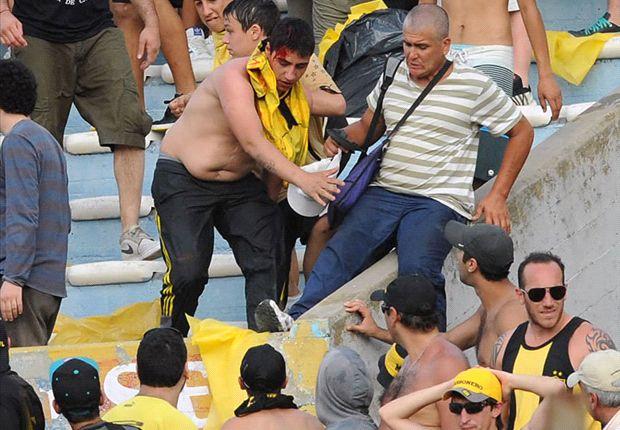 Si bien la provocación vino del lado de Nacional, los desmanes fueron causados por hinchas de Peñarol