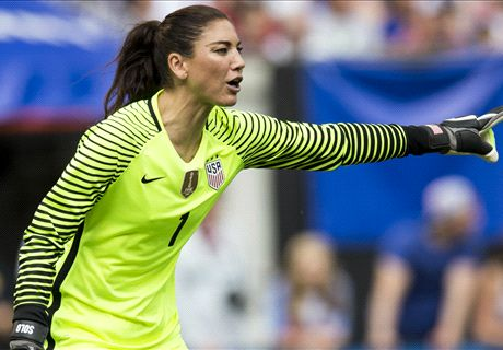 Hope Solo guarding against Zika