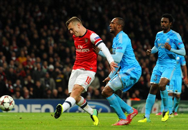 Arsenal 2-0 Marseille: Wilshere puts Gunners on the brink of qualification