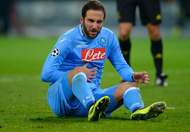 Napoli: Higuain operating at 80 per cent