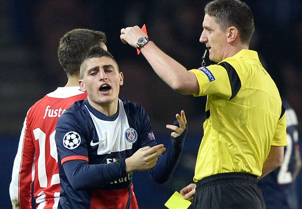 Blanc: I won't blame Verratti for red card against Olympiakos