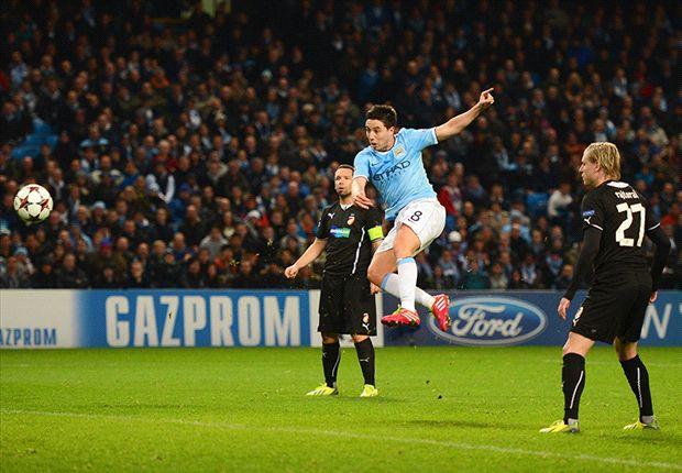 Manchester City 4-2 Viktoria Plzen: Dzeko & Negredo seal late victory
