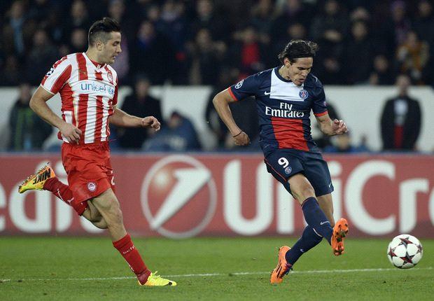 PSG 2-1 Olympiakos: Cavani fires Parisiens into last 16