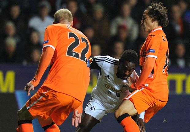 Swansea City 0-1 Valencia: Laudrup's men miss chance to seal progression in Europe
