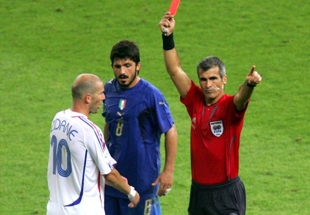 'It was difficult to send Zidane off' - World Cup final referee discusses headbutt
