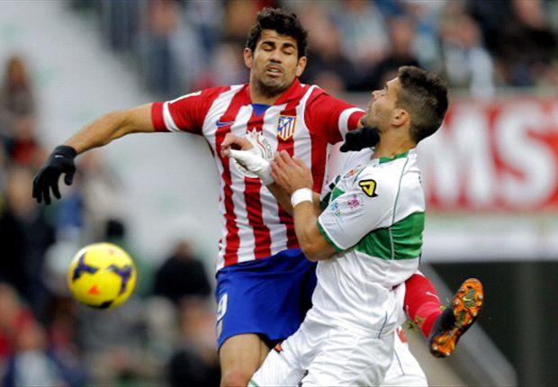 Angreifer Diego Costa war wieder für Atletico Madrid erfolgreich