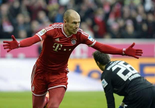 Bayern Munich 2-0 Eintracht Braunschweig: Robben leads Roten to victory