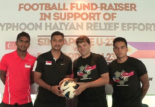Singapore U23 will face Philippines U23 to raise funds for victims of Typhoon Haiyan (Photo: FAS)