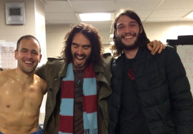 Extra Time: Russell Brand celebrates with West Ham after Fulham win