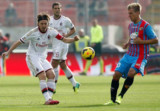 Eerste uitzege AC Milan uit bij Catania