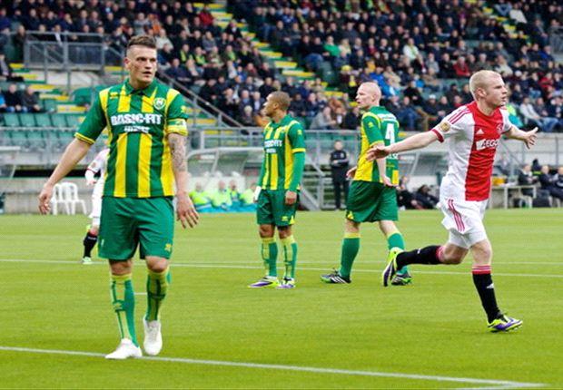 Ajax met ruime cijfers langs ADO Den Haag