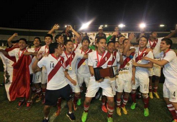 Los chicos de Perú celebraron el título