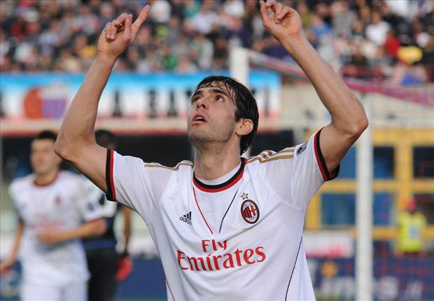 Catania 1-3 AC Milan: Kaka secures vital win for Allegri's side