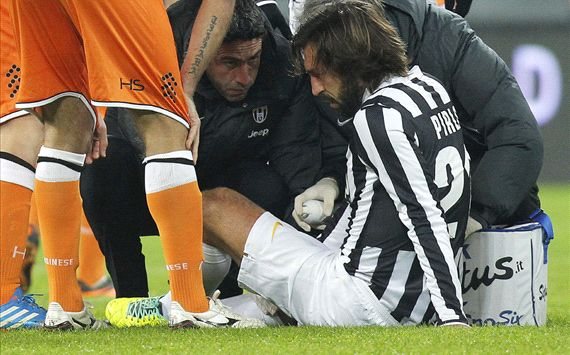 Pirlo suffers knee ligament damage