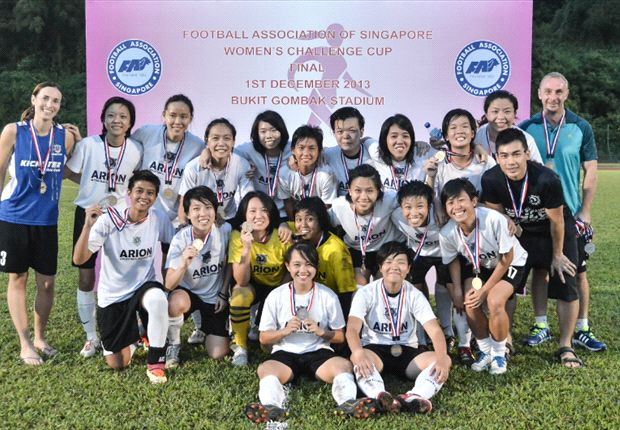 Third place for the beaming Arion girls in the 2013 FAS Women's Challenge Cup.