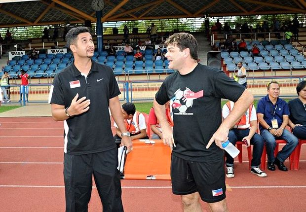 Aide (left) warned his side not to be over-confident despite a huge victory. (Photo: FAS)