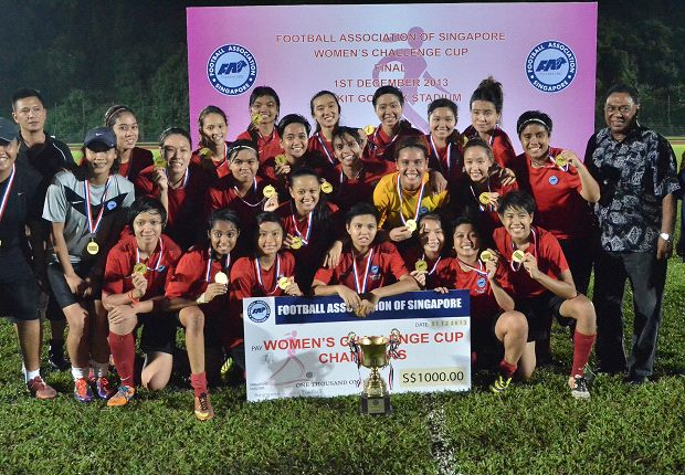 Young Women ran out deserving winners of the FAS Women's Challenge Cup.
