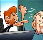 Cartoon: You're fired! AVB hits back