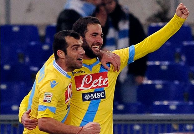 Lazio 2-4 Napoli: Higuain double gets visitors back on track