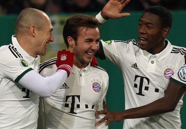Arjen Robben traf für den FC Bayern München gegen den FC Augsburg und musste früh verletzt ausgewechselt werden