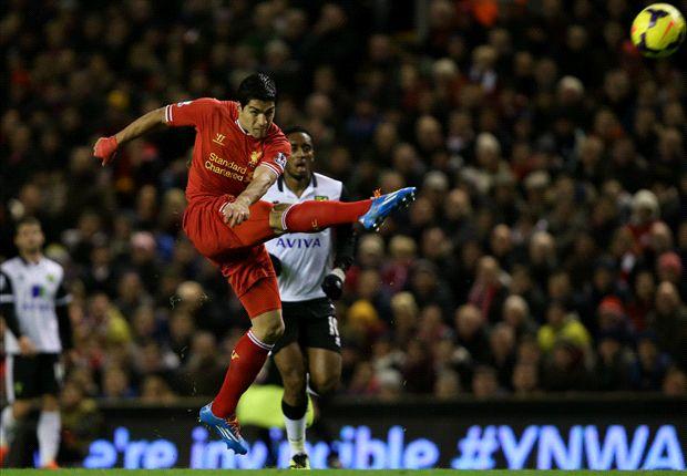 Suarez, marcando uno de sus goles