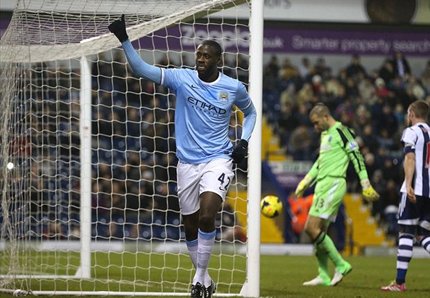 West Bromwich 2-3 Manchester City: Yaya Touré se viste de Negredo