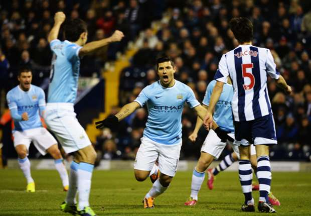 West Brom 2-3 Manchester City: Pellegrini's men survive late scare