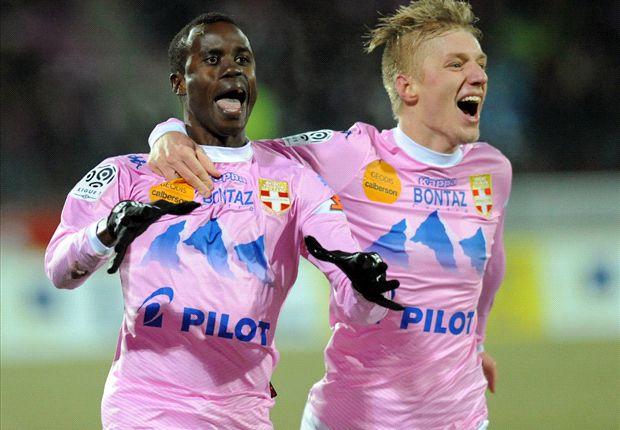 Glücksgefühle: Evian überraschte Paris St. Germain und siegte am Ende mit 2:0