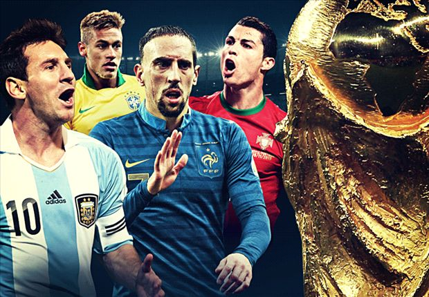 Messi, Ronaldo, Neymar, Ribery - who will claim the World Cup's Golden Ball?