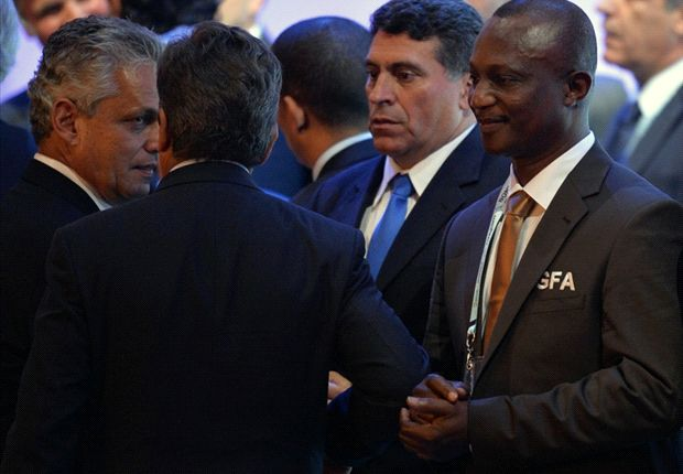 Ghana coach Kwesi Appiah at the 2014 World Cup draw