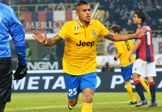 Bologna 0-2 Juventus: Vidal and Chiellini secure hard-fought three points