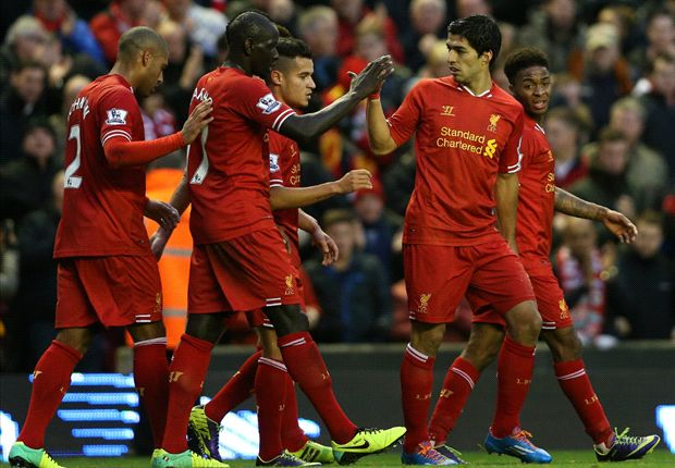 Liverpool 4-1 West Ham: Suarez on target again for Reds