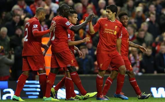 Luis Suarez Liverpool West Ham United Premier League 12072014