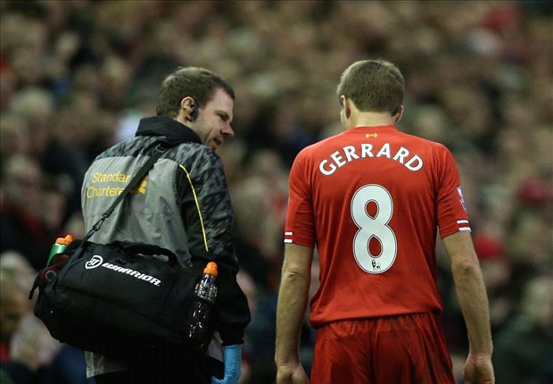 Rodgers hoping to have Gerrard back in four weeks