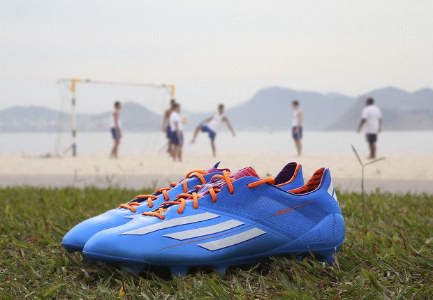 The new electric-blue adidas adizero Samba f50 promises will fulfill players' need for speed