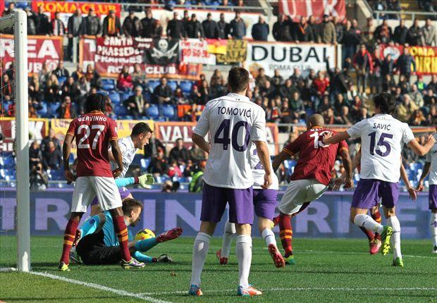 Roma venció a Fiorentina, rompió la racha de empates y mantuvo el invicto