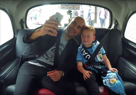 WATCH: Pep upstaged by Man City fan