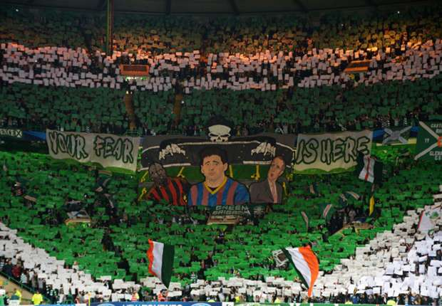 Celtic ban 128 fans after crowd trouble