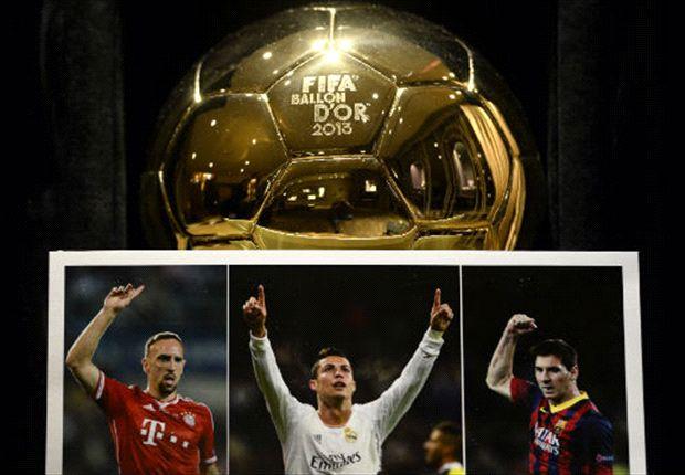 Ronaldo, Messi e Ribery sono i 3 candidati per il Pallone d'Oro