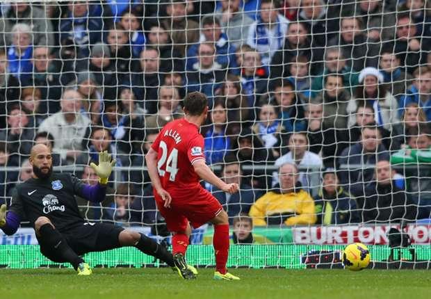 Liverpool midfielder Allen not haunted by Merseyside derby miss