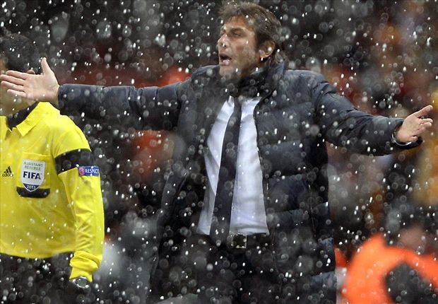 'It was a mudslide' - Conte insists Juventus-Galatasaray clash should have been called off