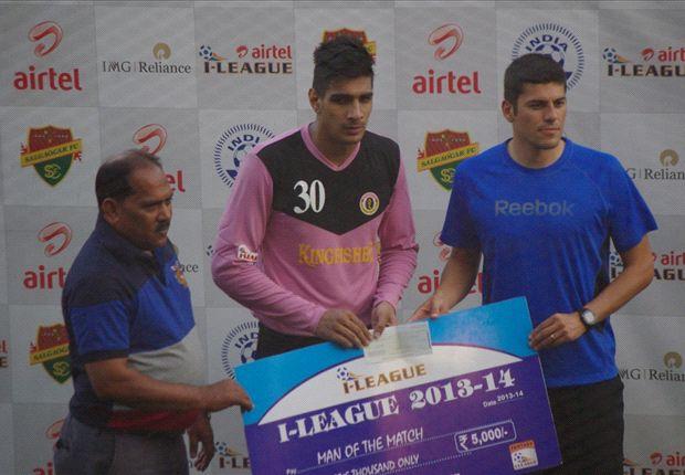 Gurpreet Singh Sandhu Salgaocar FC vs East Bengal I-League