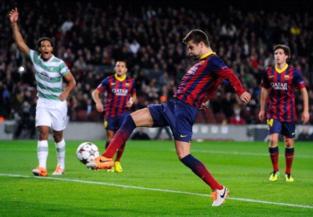 Pique erzielte Tor Nummer 1000 für Barcelona in allen europäischen Wettbewerben