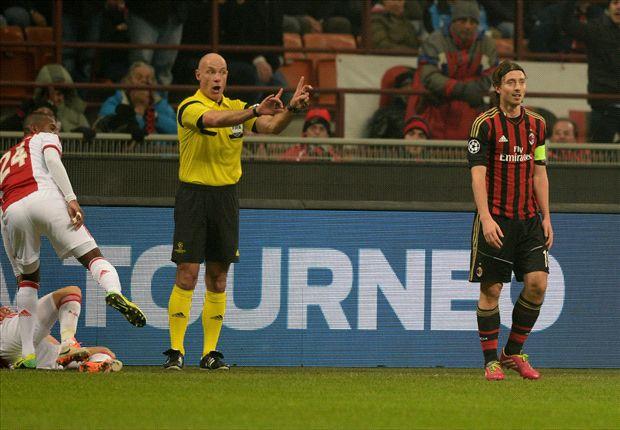 Milan musste 80 Minuten zu zehnt gegen Ajax verteidigen