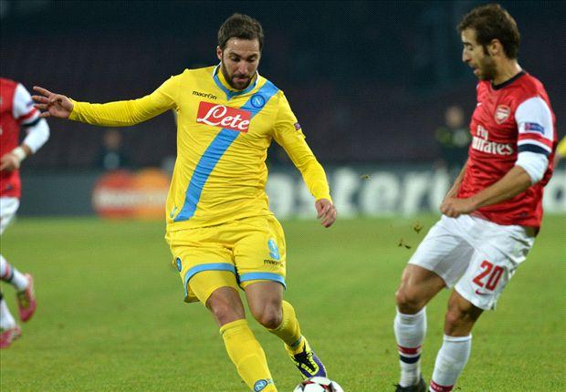 Napoli komt een goal tekort tegen Arsenal