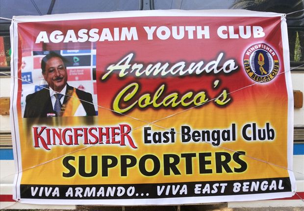 Goan supporters of East Bengal coach Armando Colaco