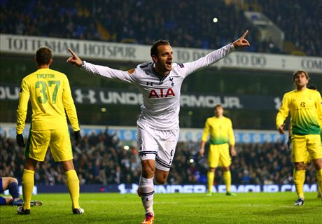Tottenham 4-1 Anzhi: Soldado hat-trick fires Spurs to easy win