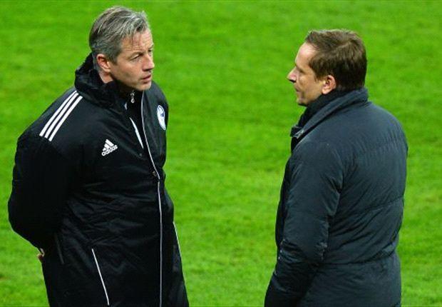 Jens Keller und Horst Heldt können mit Schalkes Hinrunde nicht zufrieden sein